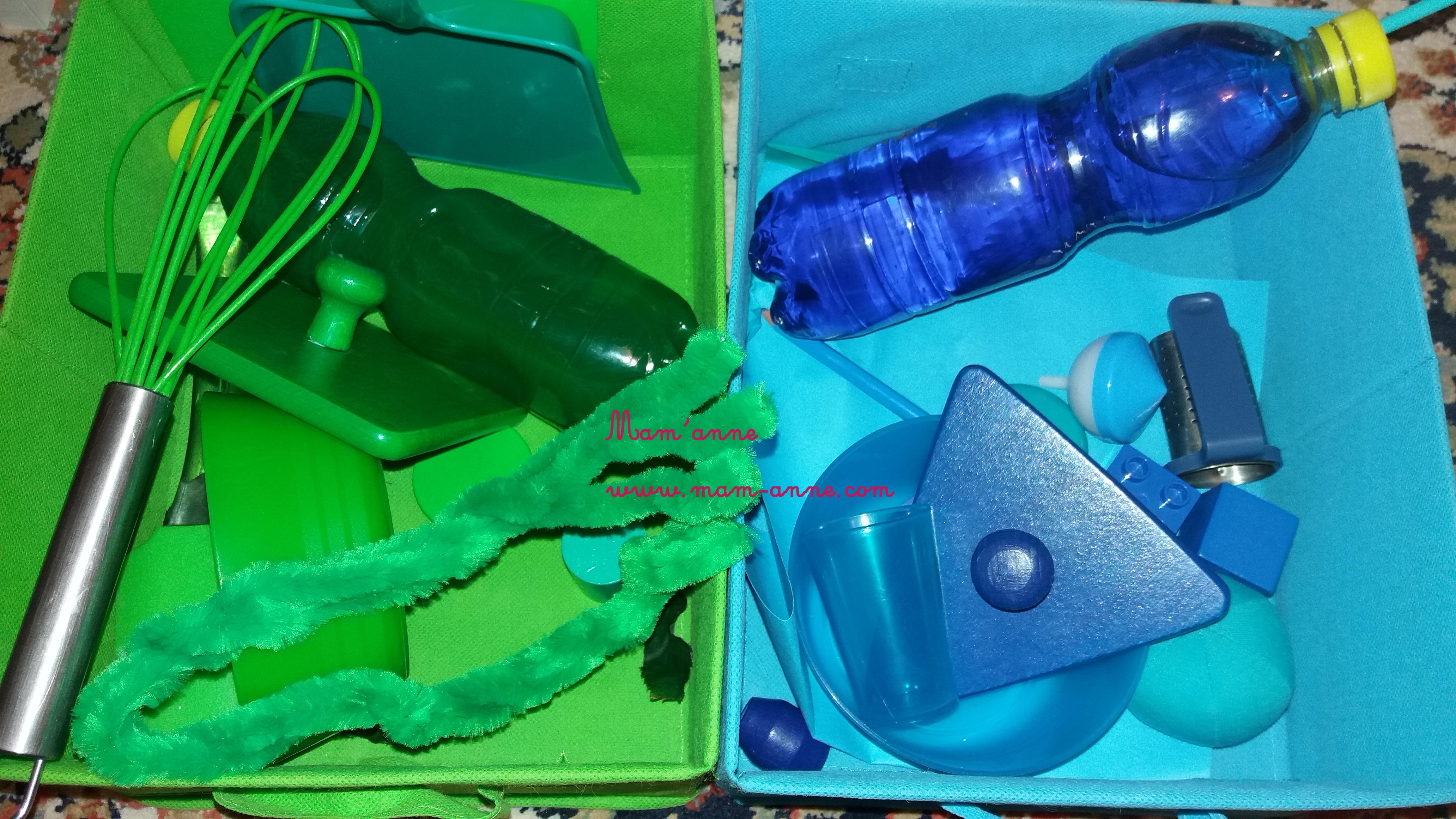 panier sensoriel découverte couleurs éveil montessori