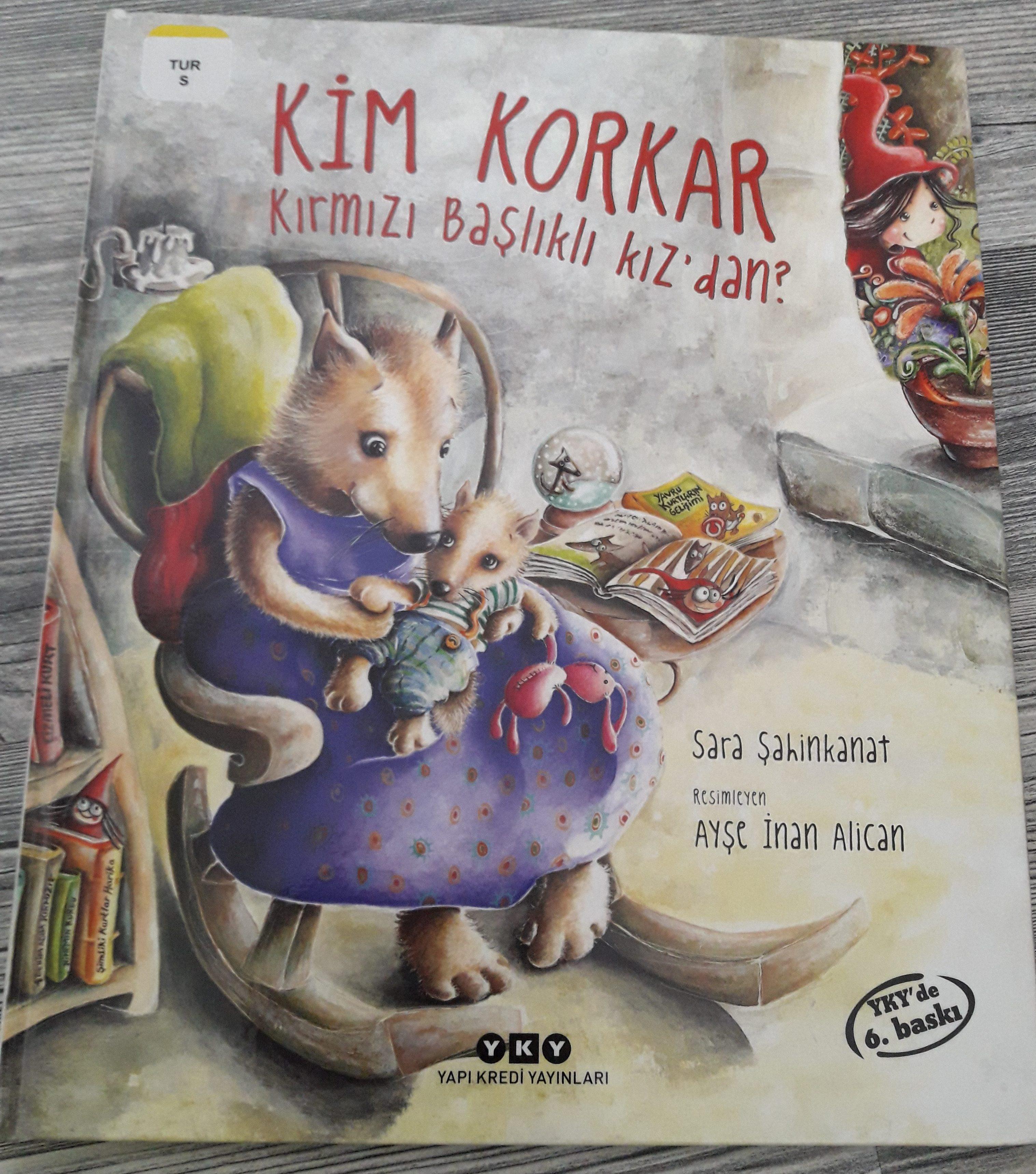 Livre enfant: Kim Korkar Kırmızı Başlıklı Kızdan? - Qui aurait peur du petit chaperon rouge?les loups et les hommes, stéréotypes, société, le petit chaperon rouge, végétarisme