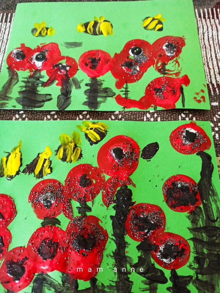 peinture coquelicots printemps enfant